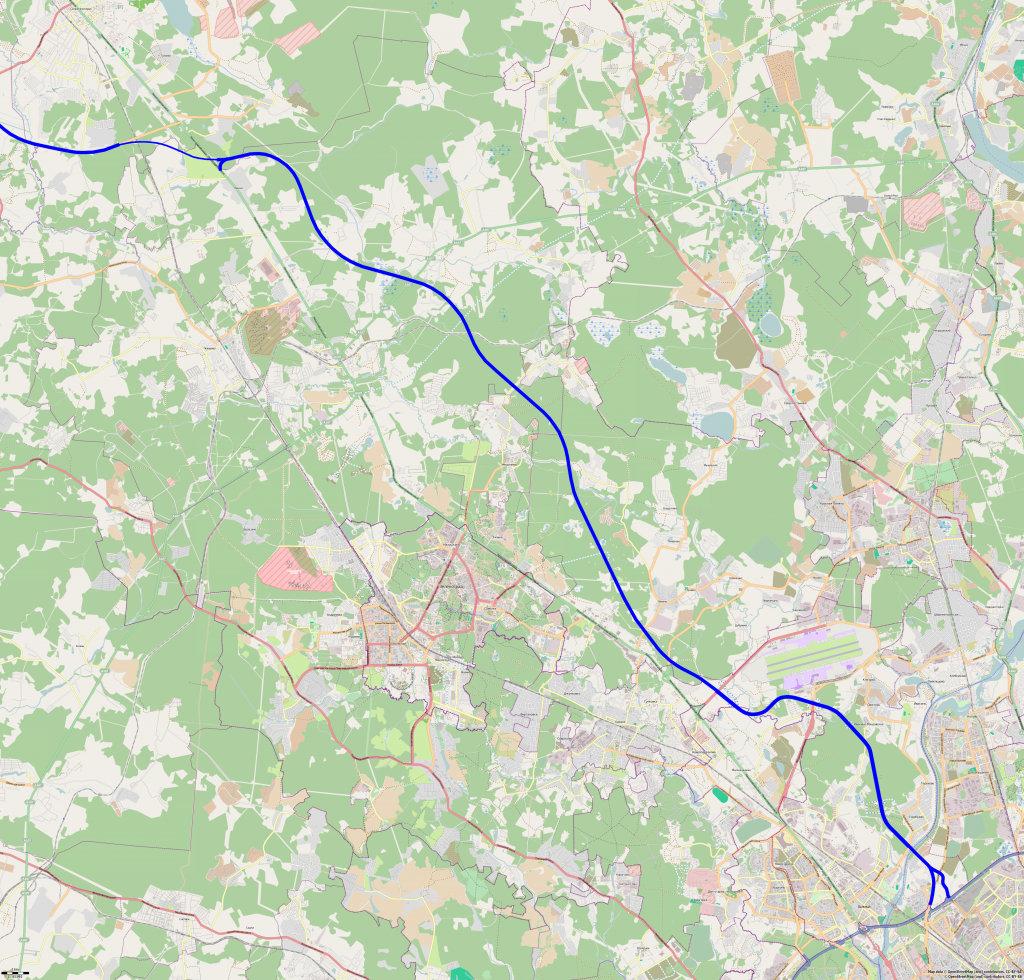 новая скоростная трасса москва санкт-петербург схема